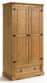 TEQUILA tömör fenyõ 2 ajtós szekrény